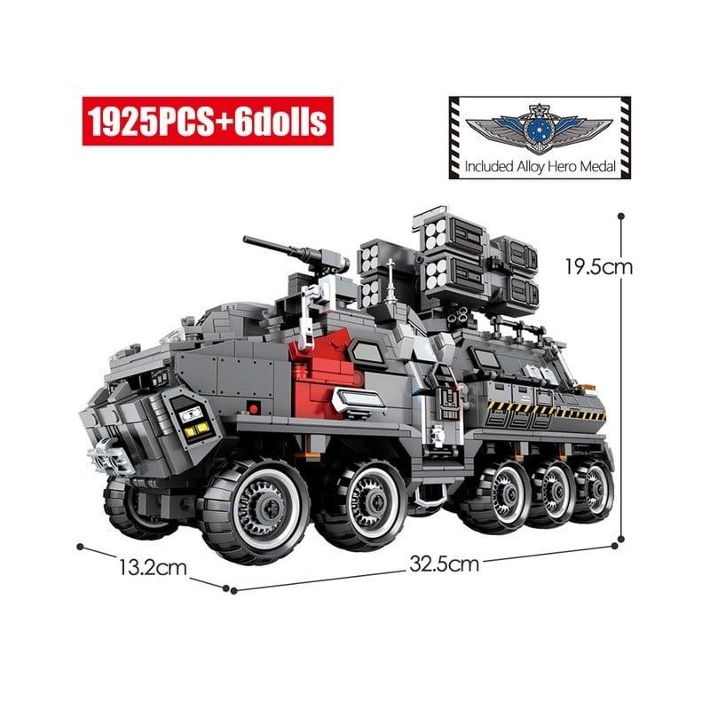 SEMBO City, transportador de tierra ambulante, bloques de construcción de automóviles, tanque técnico militar, furgoneta de c...