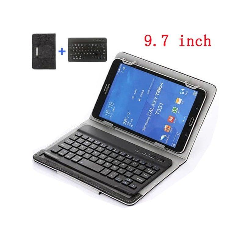 Teclado inalámbrico Bluetooth portátil Delgado Universal Mini funda para teclado para tableta portátil Smartphone iPad soport...