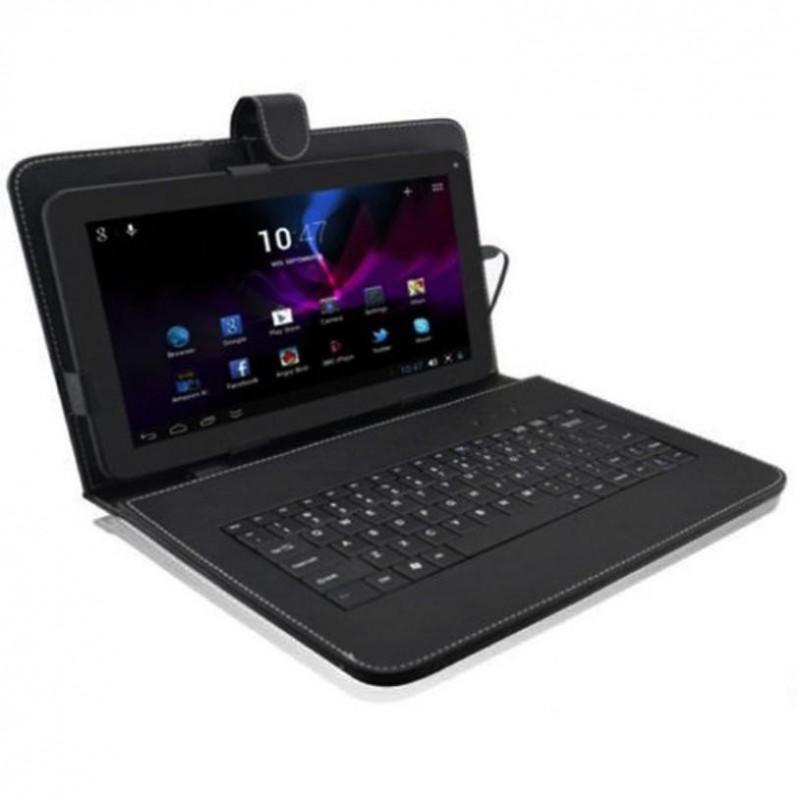 Precio de fábrica 10,1 ''pulgadas para Android Tablet PC Funda de cuero cubierta USB teclado Stand 51215 Internacional