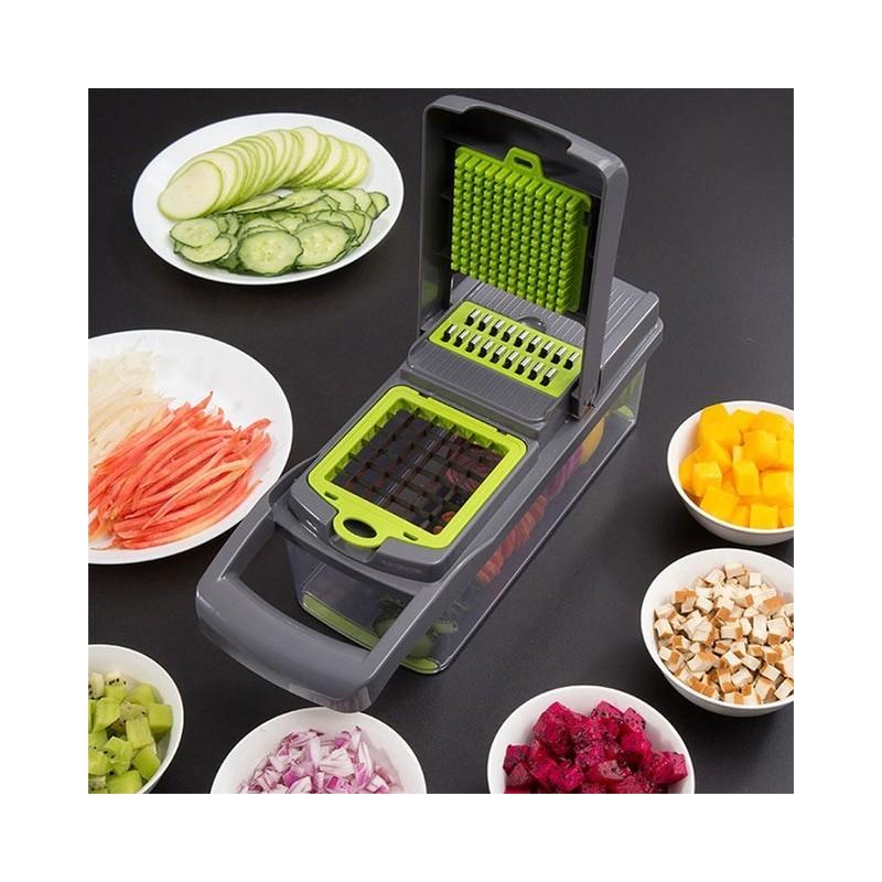 Cortador de verduras multifuncional mandolina rebanador fruta pelador de zanahorias rallador accesorios de cocina cesta para ...