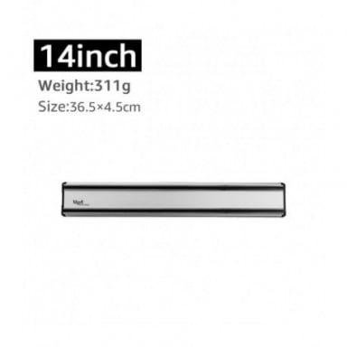 Soporte magnético para cuchillos, soporte de pared de plástico ABS negro, fuerte imán, organizador de accesorios de cocina