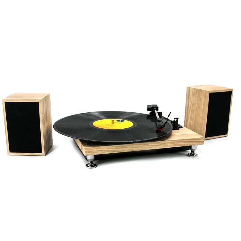 Tocadisco + Parlantes Modern Wood TT16006 Tocadiscos y Tornamesas