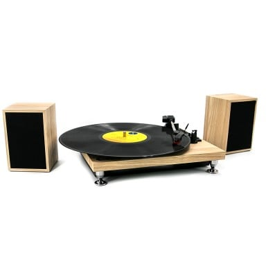 Tocadisco + Parlantes Modern Wood TT16006