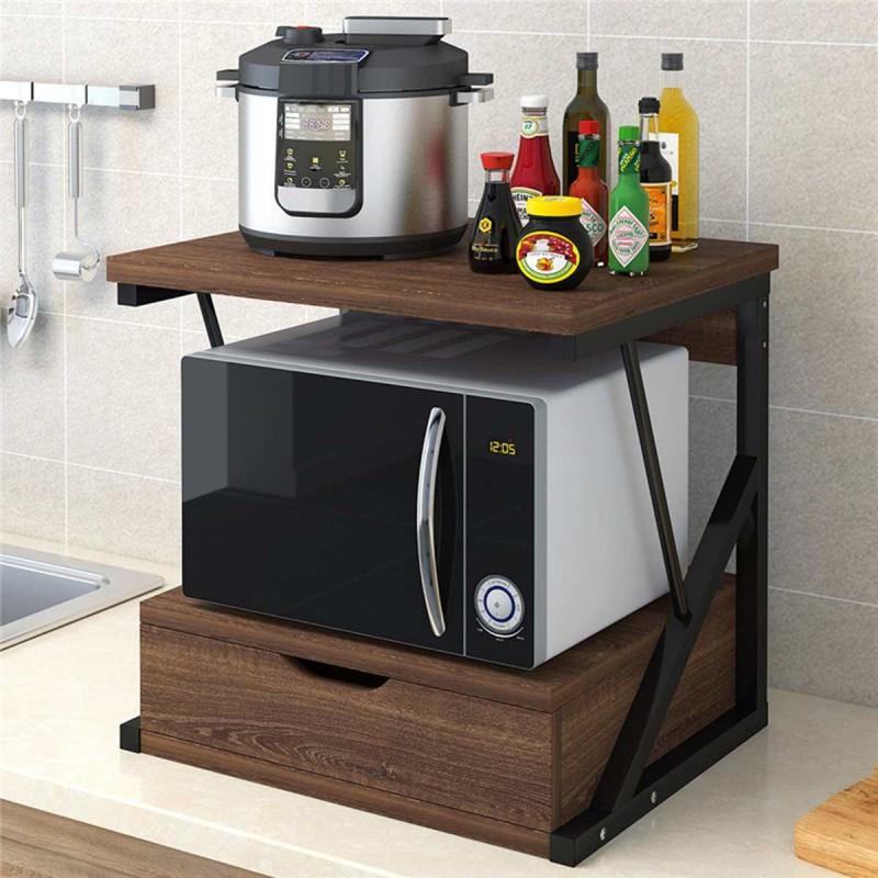 Rack microonda madera caoba Cocina