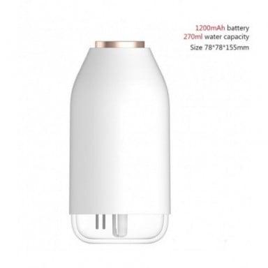 Humidificador de aire inalámbrico, 780ml, batería de 2000mAh, Humidificador recargable, aromaterapia,