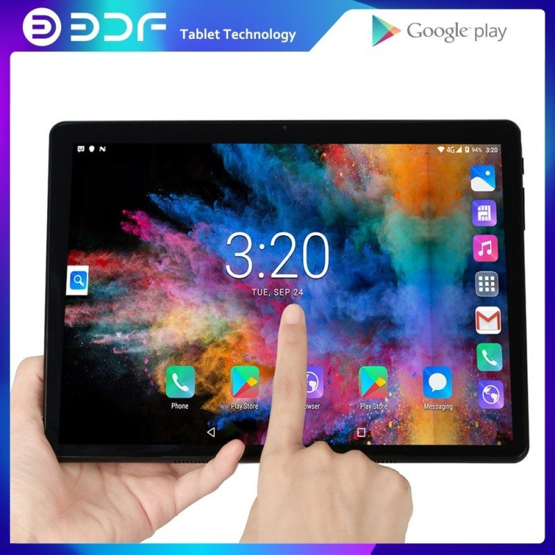 Tablet 10,1 pulgadas tabletas Android 7,0 Quad Core 32GB ROM 2.5D de acero pantalla IPS WiFi Bluetooth tableta GPS PC tarjeta...