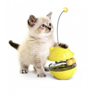 Juguetes interactivos para gatos, divertida Bola de fuga de secadora para mascotas, recipiente para comida respetuoso con el med