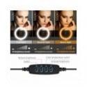Anillo de luz LED regulable para selfies con trípode, lámpara de anillo de luz USB para selfies, gran anillo de luz para foto...