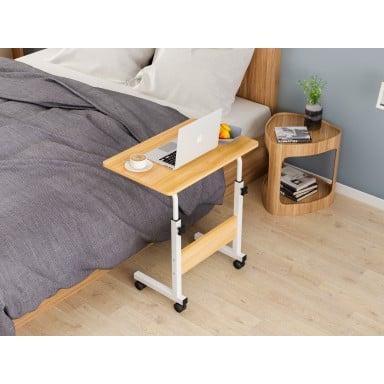 Mesa ajustable para computador madera clara