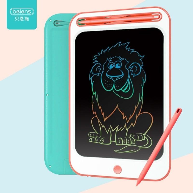 Beiens tableta de dibujo, juguetes educativos para niños de 3 años, pantalla colorida, manualidades de escritura para niños, ...