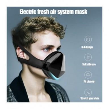 Máscara facial eléctrico inteligente, mascarilla facial purificadora de aire inteligente para adultos para correr/viajes, formal