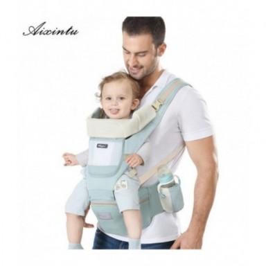 Mochila ergonómica para bebé recién nacido, mochila para niños, asiento de bebé, bandolera frontal, envoltura de canguro para be