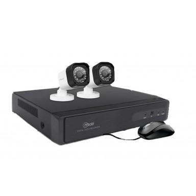 KIT  AHD-DVR  4ch +2 Cámaras 720p (HD) Microlab