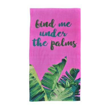 Toalla Algodón Vel. Est. 70x150 Palms