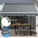 Toldo Retractil 2x1,5 mts Gris Terraza y Jardin