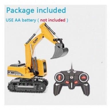 Excavadora RC de 6 canales para niños, juguete de aleación y plástico, 2,4 Ghz, 1:24, regalo de Navidad