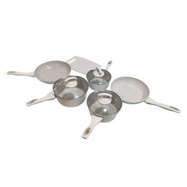 Juego de cocina 10 piezas + 6 utensilios ceramica antiadherente