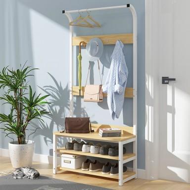 Mueble perchero madera madera clara