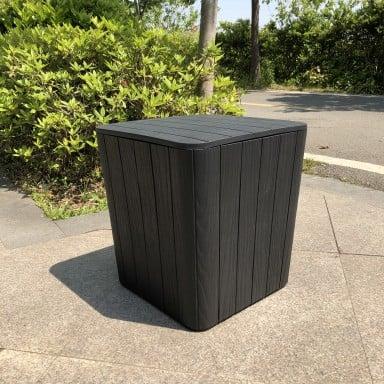 Baul canasto diseño Madera de 43lts color Negro