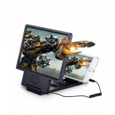 3X 4X de pantalla del teléfono móvil lupa con altavoz HD Video lupa de vidrio de 8,5 pulgadas soporte plegable lupa de vidrio