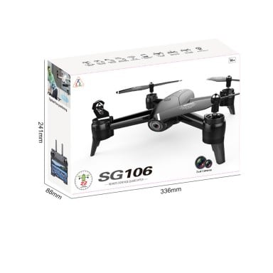 Drone Quadcoptero Sg160 Dual Camera720P Black