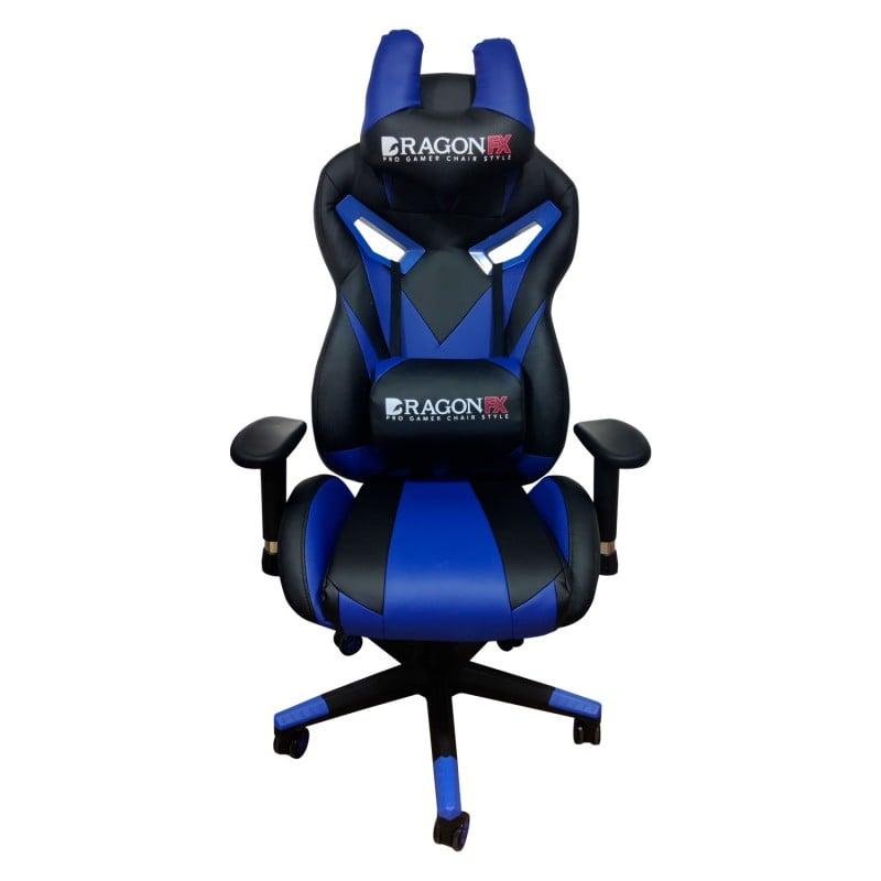 Silla Gamer Pro Gaming Chair DragonFX Azul Accesorios