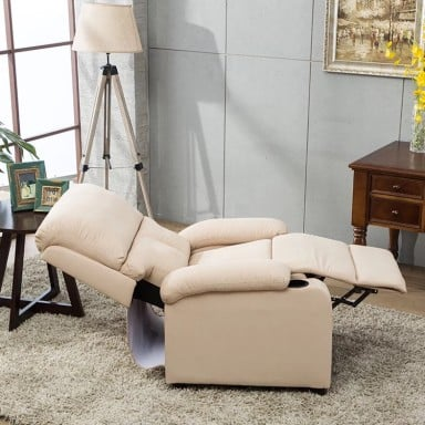 Bergere Reclinable Ibiza Leather Crema