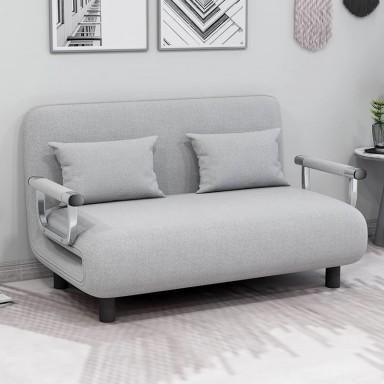 Sofa Cama Extendible Gris Light Linen