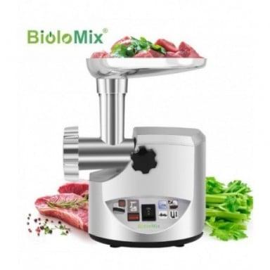 BioloMix-molinillo de carne eléctrico de alta potencia para el hogar, embutidor de salchichas PICADORA DE CARNE procesador de al