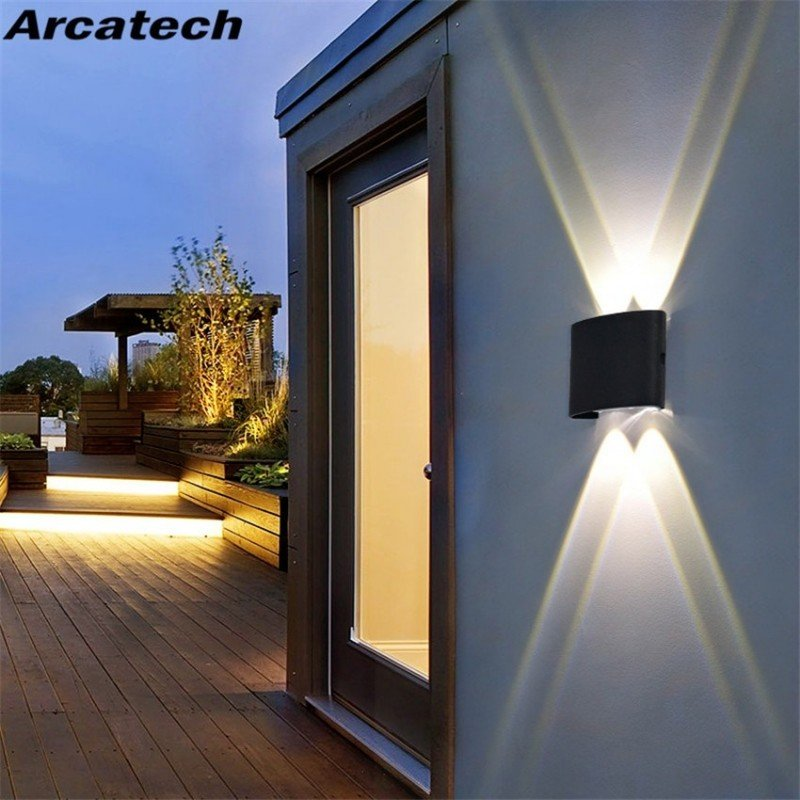 Lámpara LED de pared para exteriores, luz impermeable de estilo nórdico moderno para interiores, sala de estar, porche, jardín,
