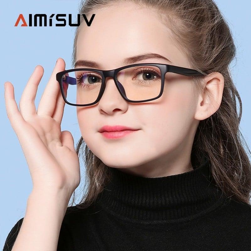 AIMISUV-Gafas de moda para niños, montura óptica con bloqueo de luz azul, antideslumbrantes, UV400 Internacional