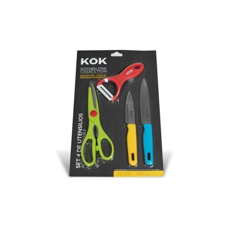 Set 4 utensilios de cocina marca Kok Cocina