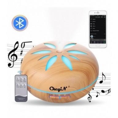 Humidificador ultrasónico eléctrico con Bluetooth, purificador de aire por Control remoto, difusor de aceites esenciales LED de