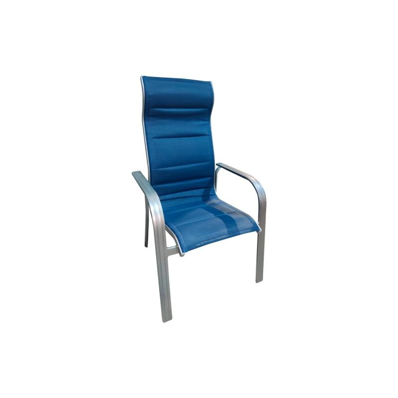 Silla Taslim Azul Terraza y Jardin