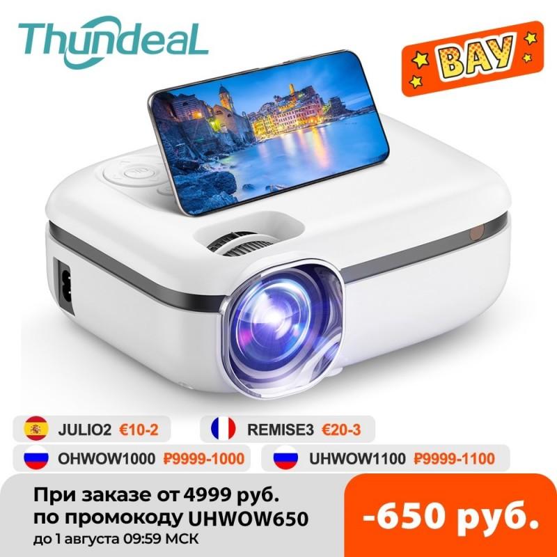 ThundeaL-miniproyector portátil para cine en casa, dispositivo de proyección con WiFi 5G, TD92, 720P nativa, teléfono intelig...