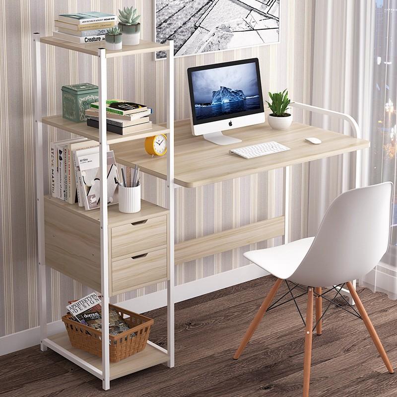 Escritorio computador con estantería lateral 006 Escritorios