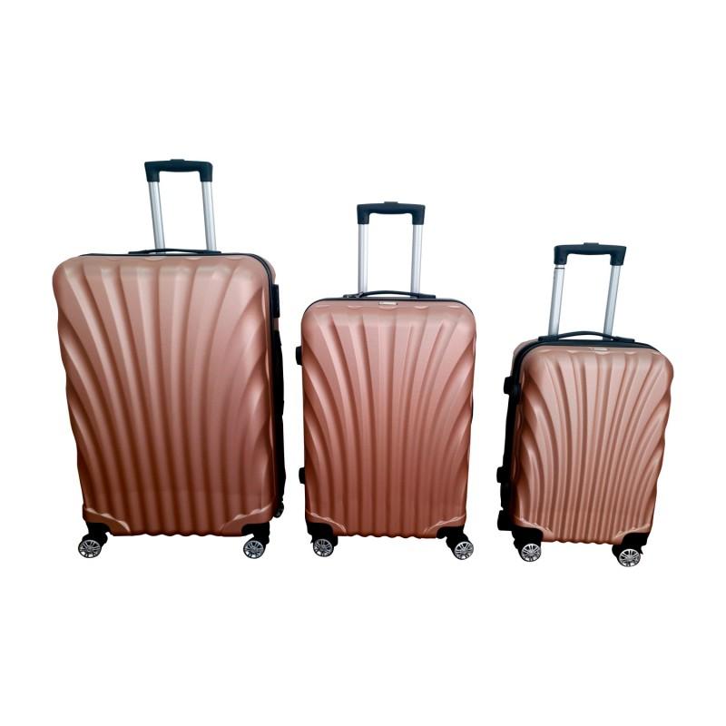 Set 3 maletas ABS Rose Gold Scheffler Maletas