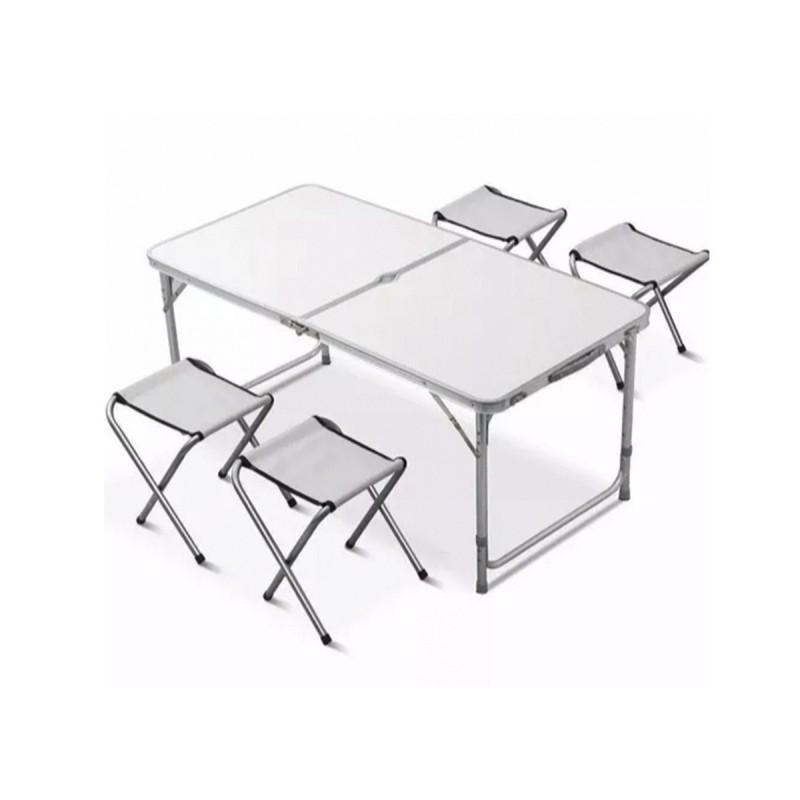 Mesa de camping plegable con sillas - Sillas plegables de camping ...