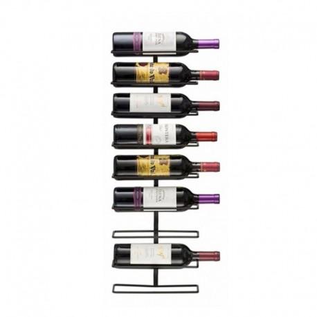 Rack metálico para 9 botellas de vino