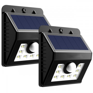 Pack foco solar 8 LED