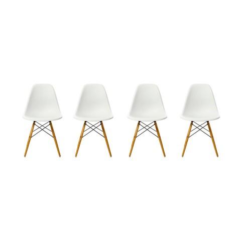 Sillas EAMES DSW. Pack cuatro unidades color Blanco Sillas Modernas Tipo Eames DSW