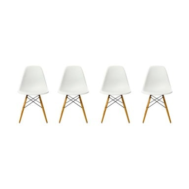 Sillas EAMES DSW. Pack cuatro unidades color Blanco