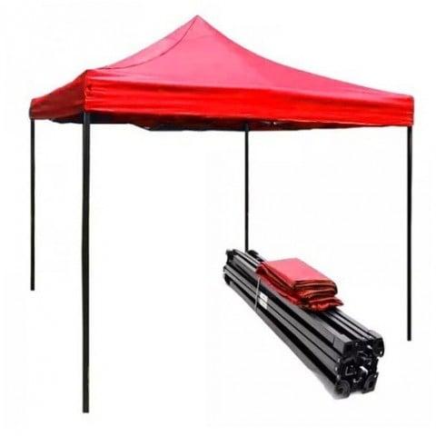 Toldo plegable 3x3 metros. Color Rojo Outdoor