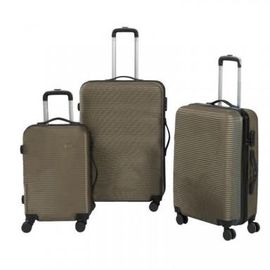 Set 3 maletas rigidas con giro 360° Beige