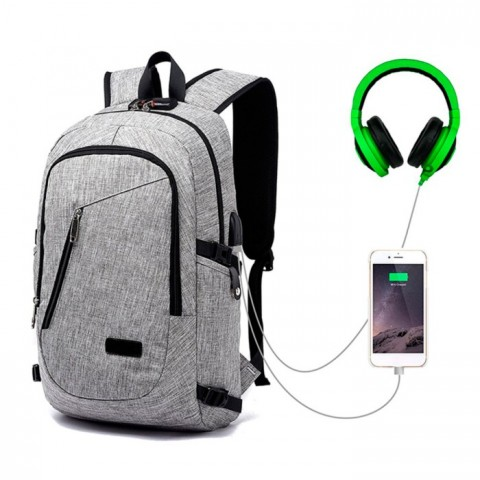 Mochila Moderna con extension USB y dos compartimientos Outdoor