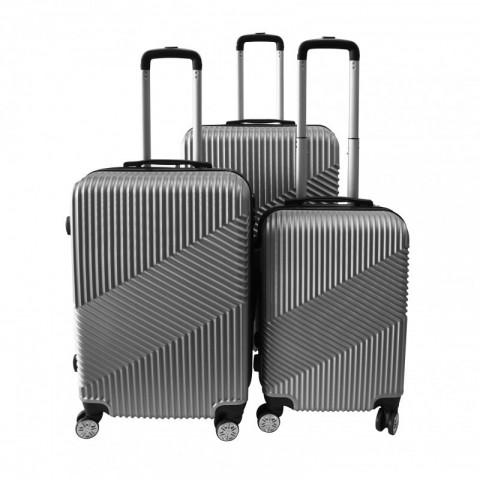 8b29d01f9 Set 3 maletas rigidas con giro 360° Plateado Maletas