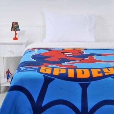 Frazada Polar Sherpa Spiderman Spidy