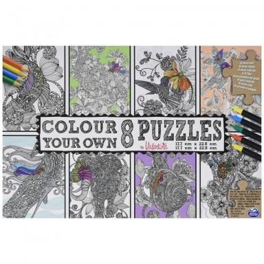 8 Puzzles para colorear