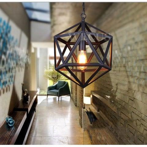 Lampara Colgante Hexagonal Vintage Iluminación