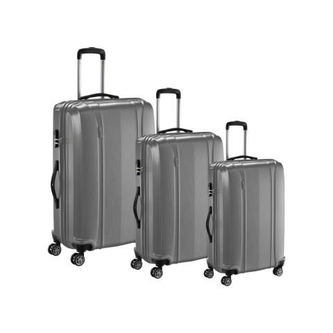 Set 3 maletas ABS carbon con giro 360° color a elección Maletas